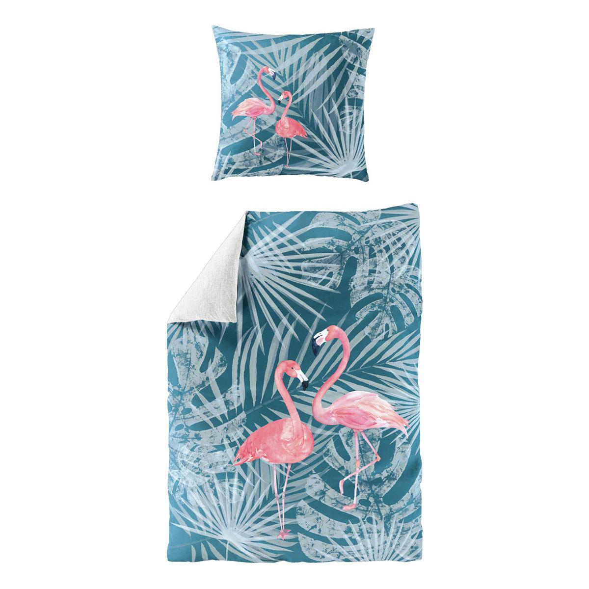 Living Dreams Mako-Satin Bettwäsche Flamingo