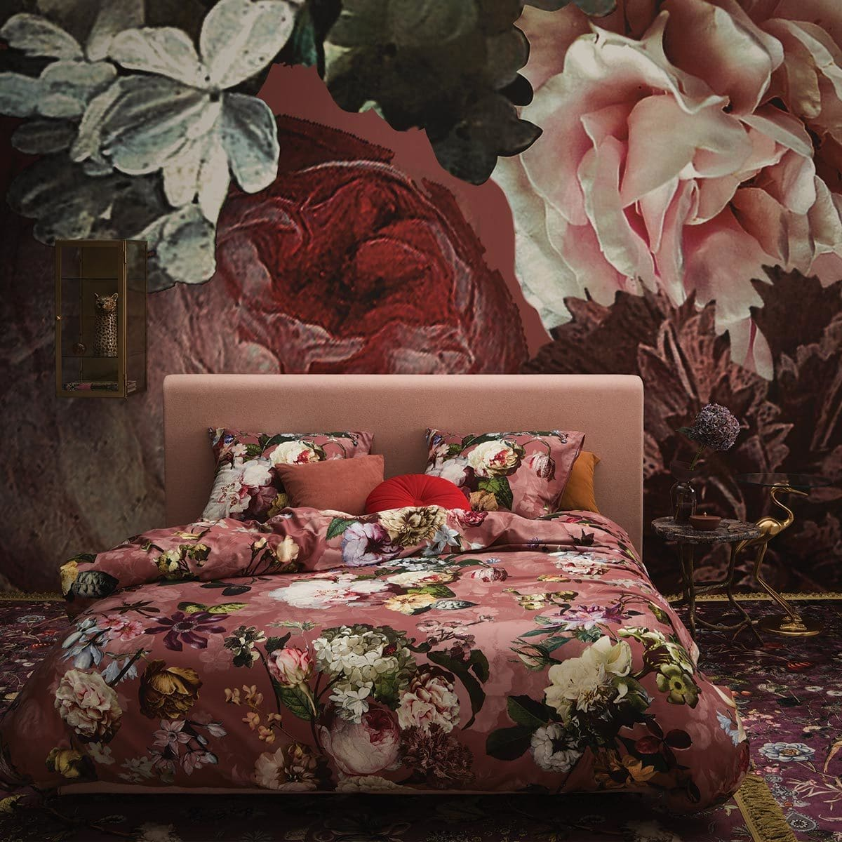 Essenza Mako Satin Bettwäsche Fleur Dusty Rose Günstig Online Kaufen