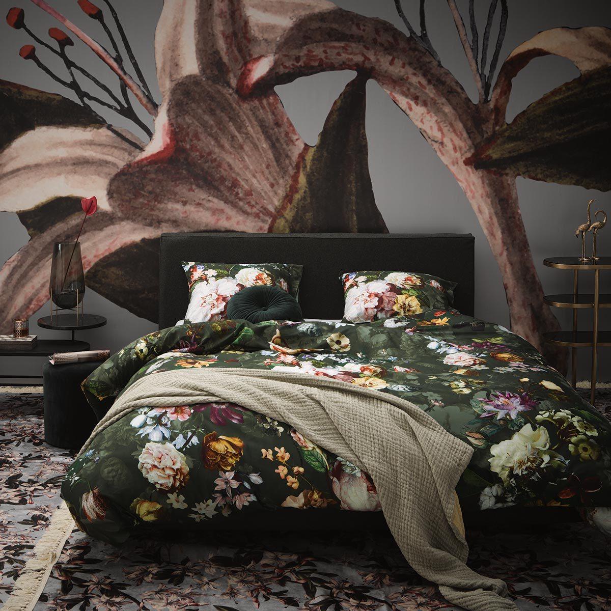 Essenza Mako Satin Bettwäsche Fleur Green Günstig Online Kaufen Bei