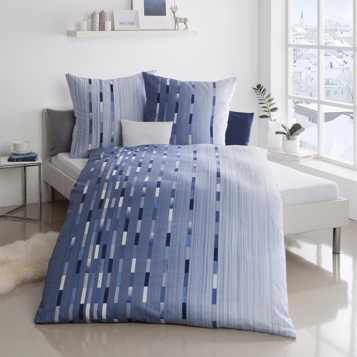 kaeppel mako satin bettw sche following kobalt g nstig. Black Bedroom Furniture Sets. Home Design Ideas