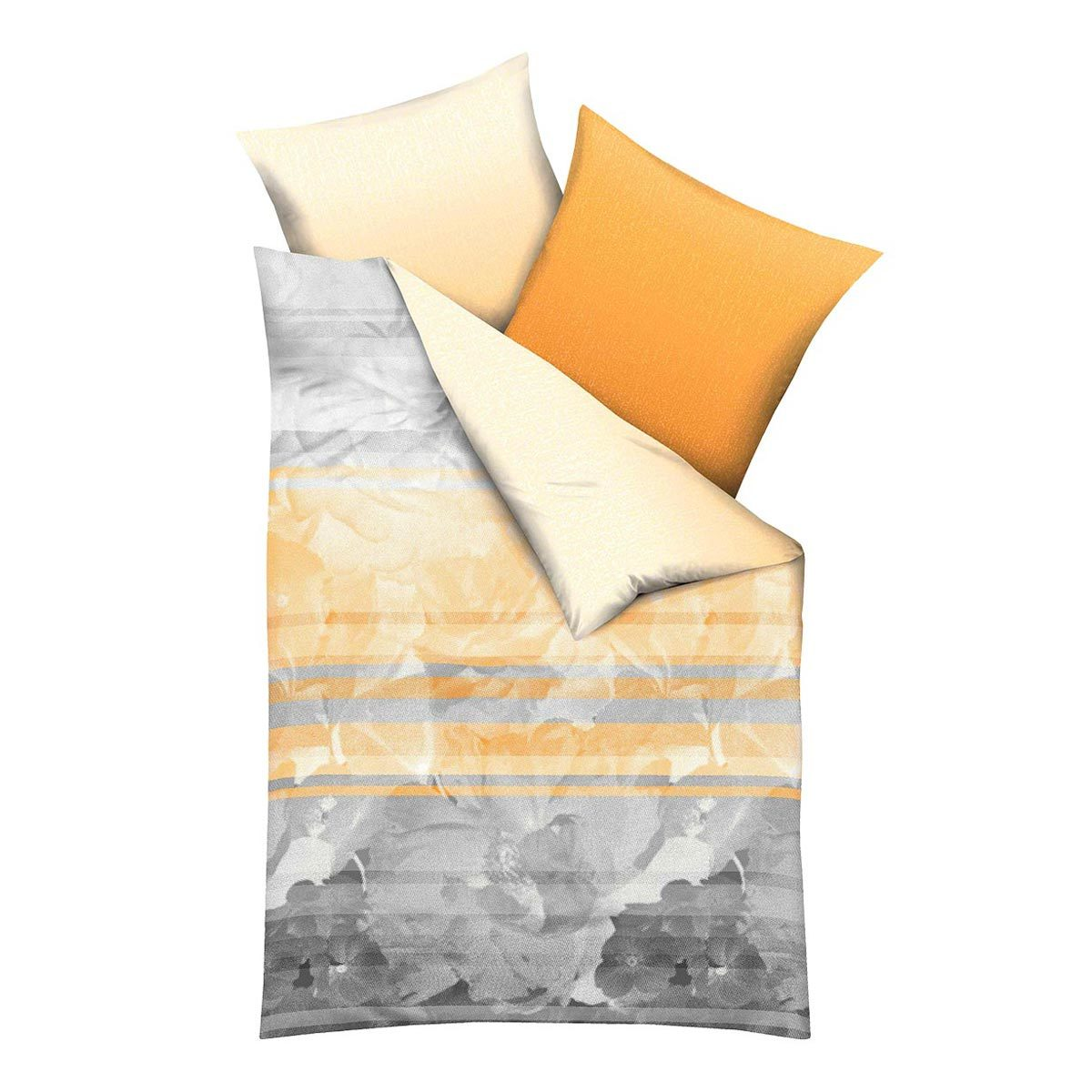 kaeppel mako satin bettw sche french bliss mandarine. Black Bedroom Furniture Sets. Home Design Ideas