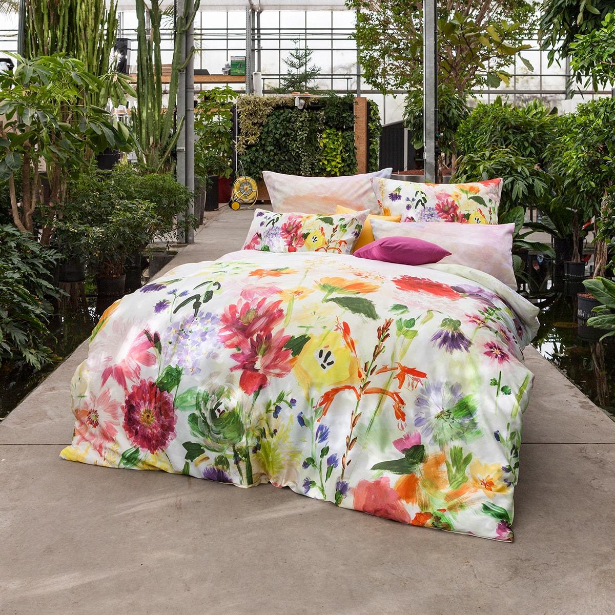 Estella Mako-Satin Bettwäsche Garden multicolor