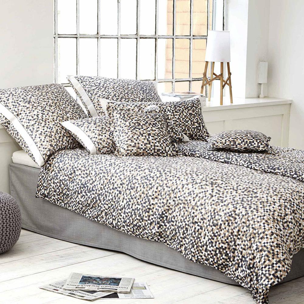 elegante mako satin bettw sche harlem greige g nstig online kaufen bei bettwaren shop. Black Bedroom Furniture Sets. Home Design Ideas