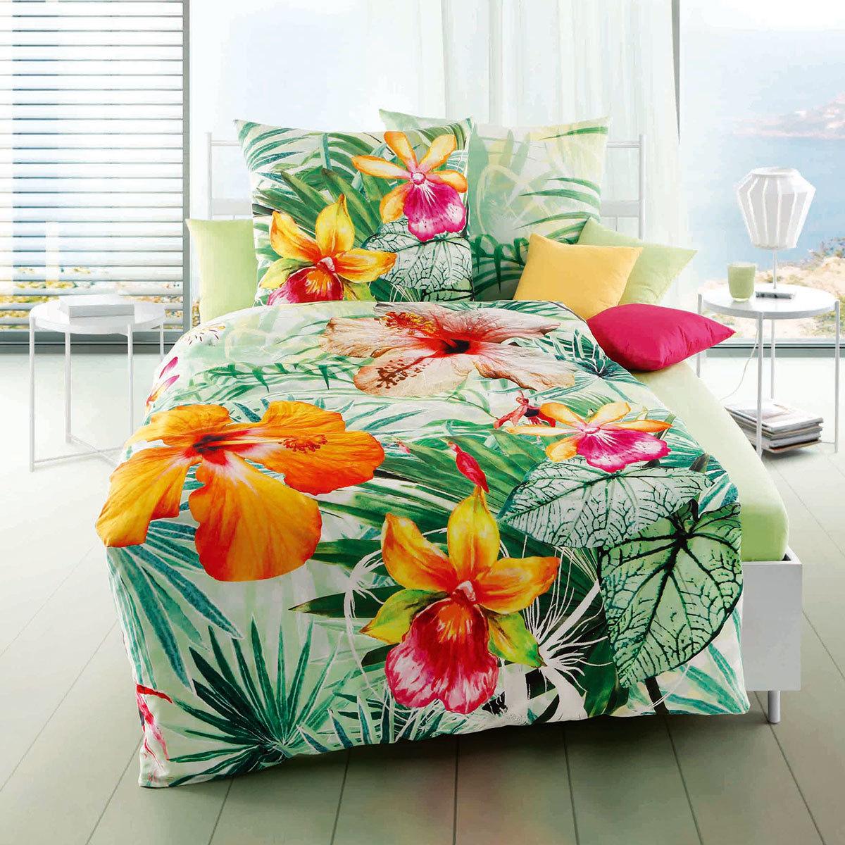Kaeppel Mako Satin Bettwäsche Honolulu Grün Günstig Online Kaufen