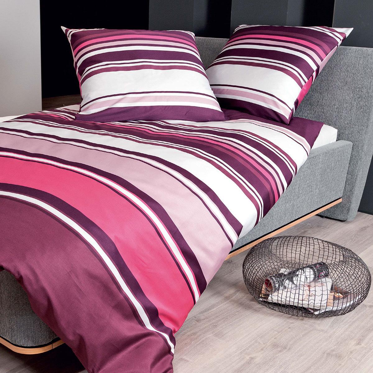 janine mako satin bettw sche j d 87018 05 beere g nstig online kaufen bei bettwaren shop. Black Bedroom Furniture Sets. Home Design Ideas