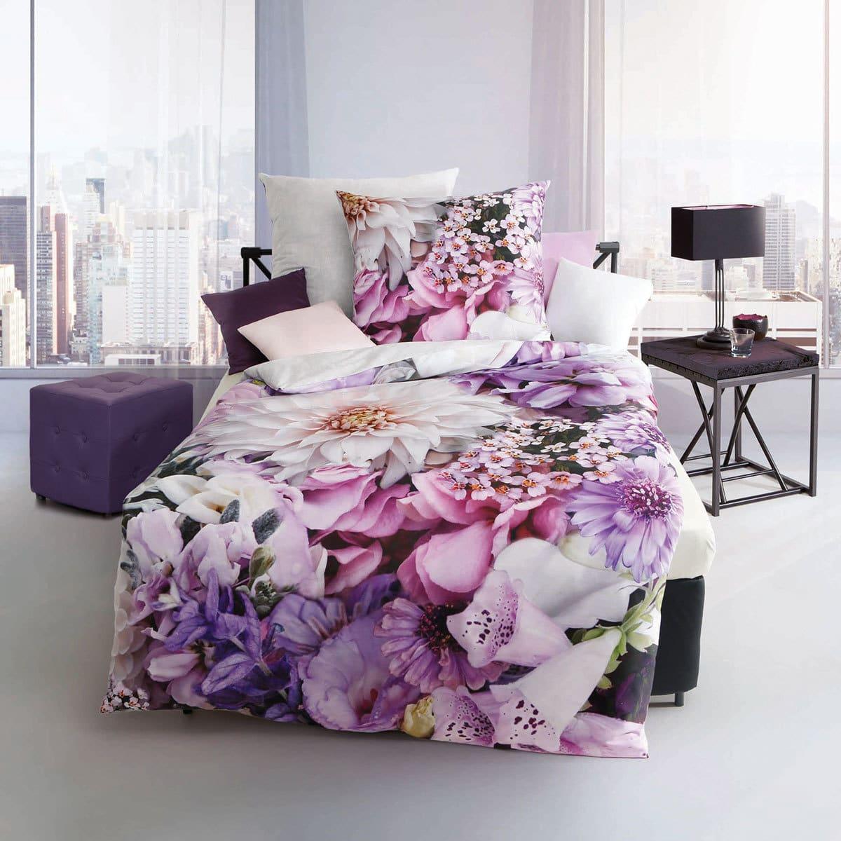 4c726b8dfc Kaeppel Mako-Satin Bettwäsche Lilac Passion flieder günstig online ...