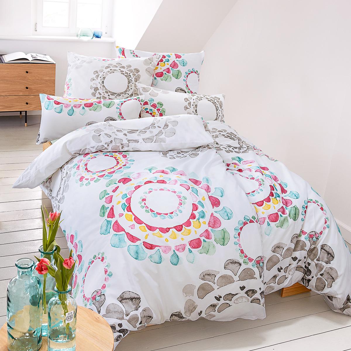 living dreams mako satin bettw sche mandala g nstig online. Black Bedroom Furniture Sets. Home Design Ideas