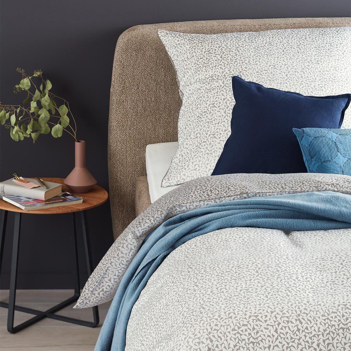 sch ner wohnen mako satin bettw sche minimo hellgrau grau malermeister wunder. Black Bedroom Furniture Sets. Home Design Ideas
