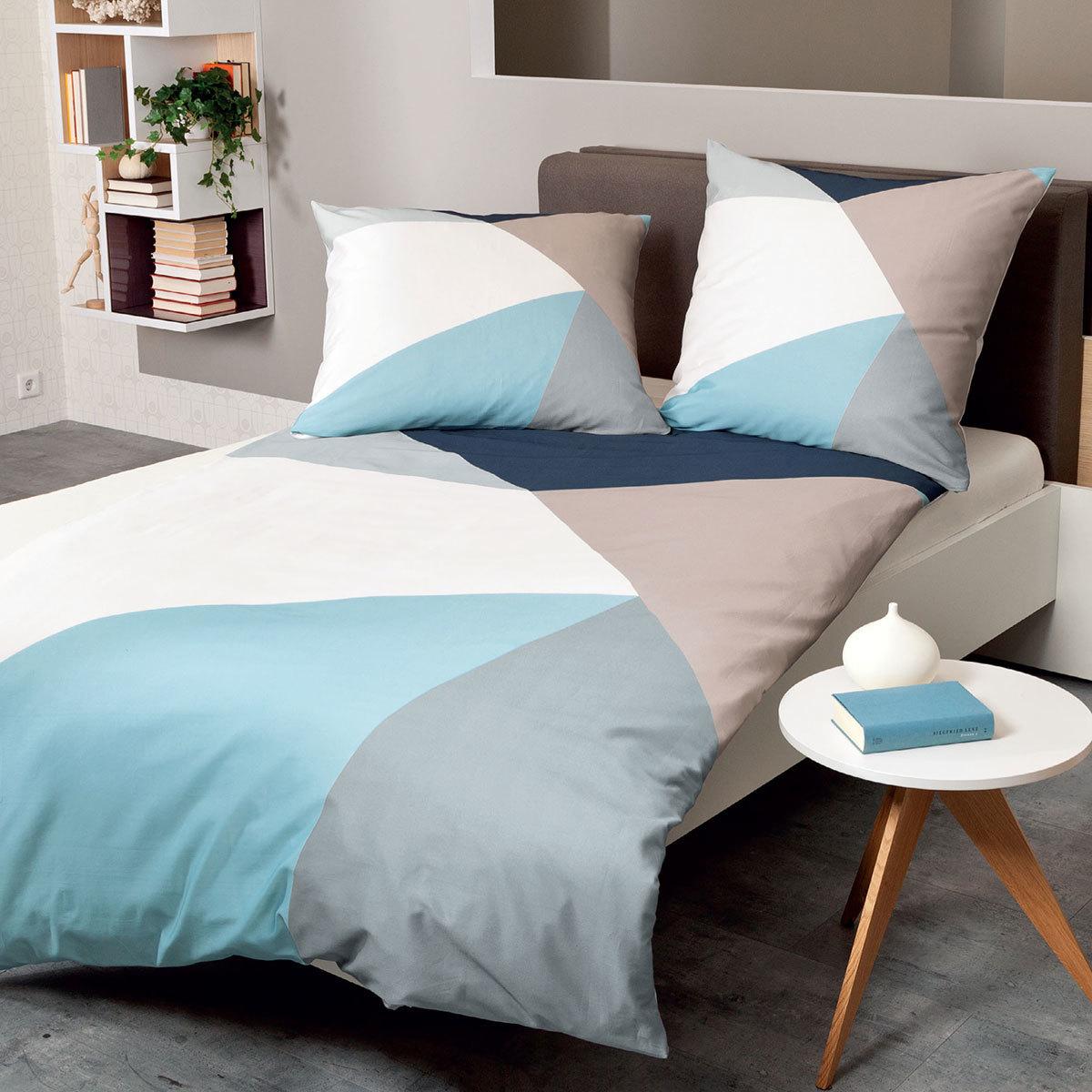 janine mako satin bettw sche modern art 42026 02 marine. Black Bedroom Furniture Sets. Home Design Ideas
