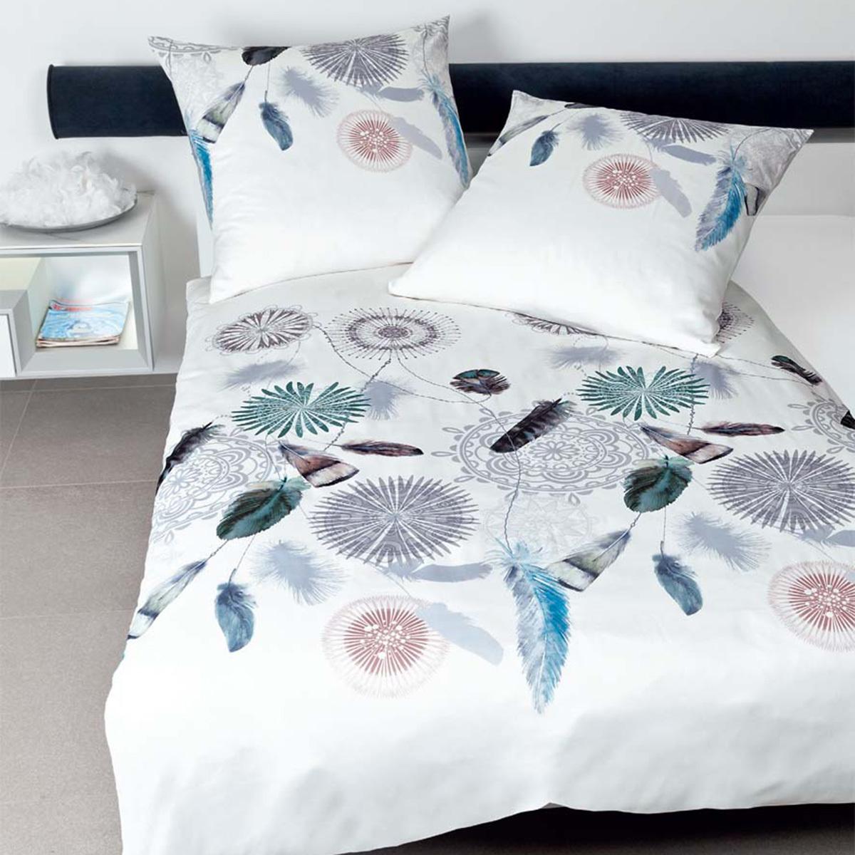 janine mako satin bettw sche modern art 42033 08 silberblau g nstig online kaufen bei bettwaren shop. Black Bedroom Furniture Sets. Home Design Ideas