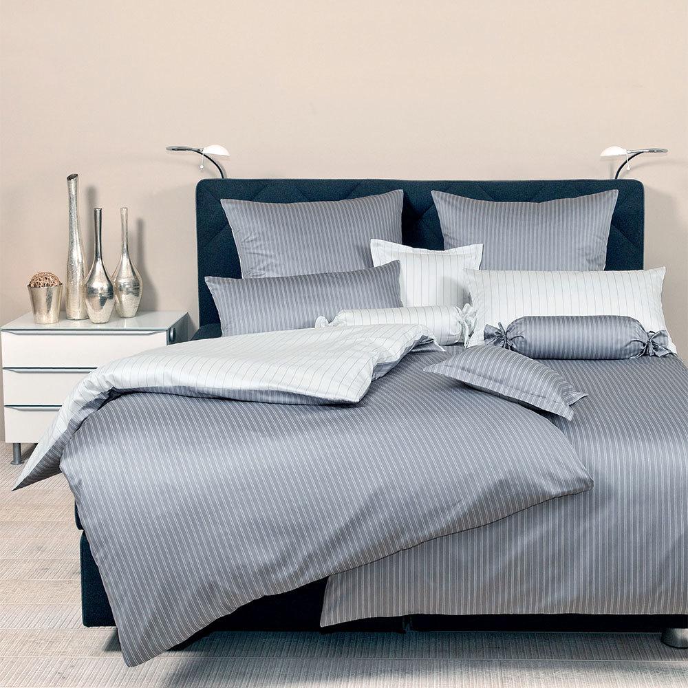 janine mako satin bettw sche modern classic silber g nstig online kaufen bei bettwaren shop. Black Bedroom Furniture Sets. Home Design Ideas