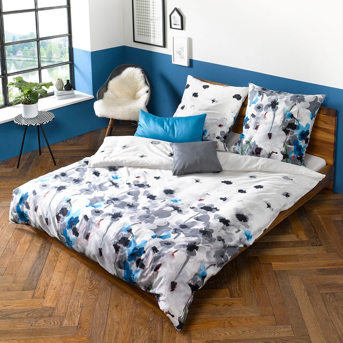 fleuresse mako satin bettw sche modern garden 113687 0007 g nstig online kaufen bei bettwaren shop. Black Bedroom Furniture Sets. Home Design Ideas