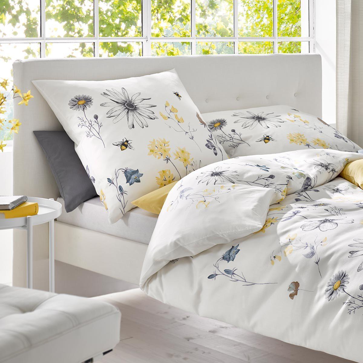 fleuresse mako satin bettw sche modern garden 113825 03 g nstig online kaufen bei bettwaren shop. Black Bedroom Furniture Sets. Home Design Ideas