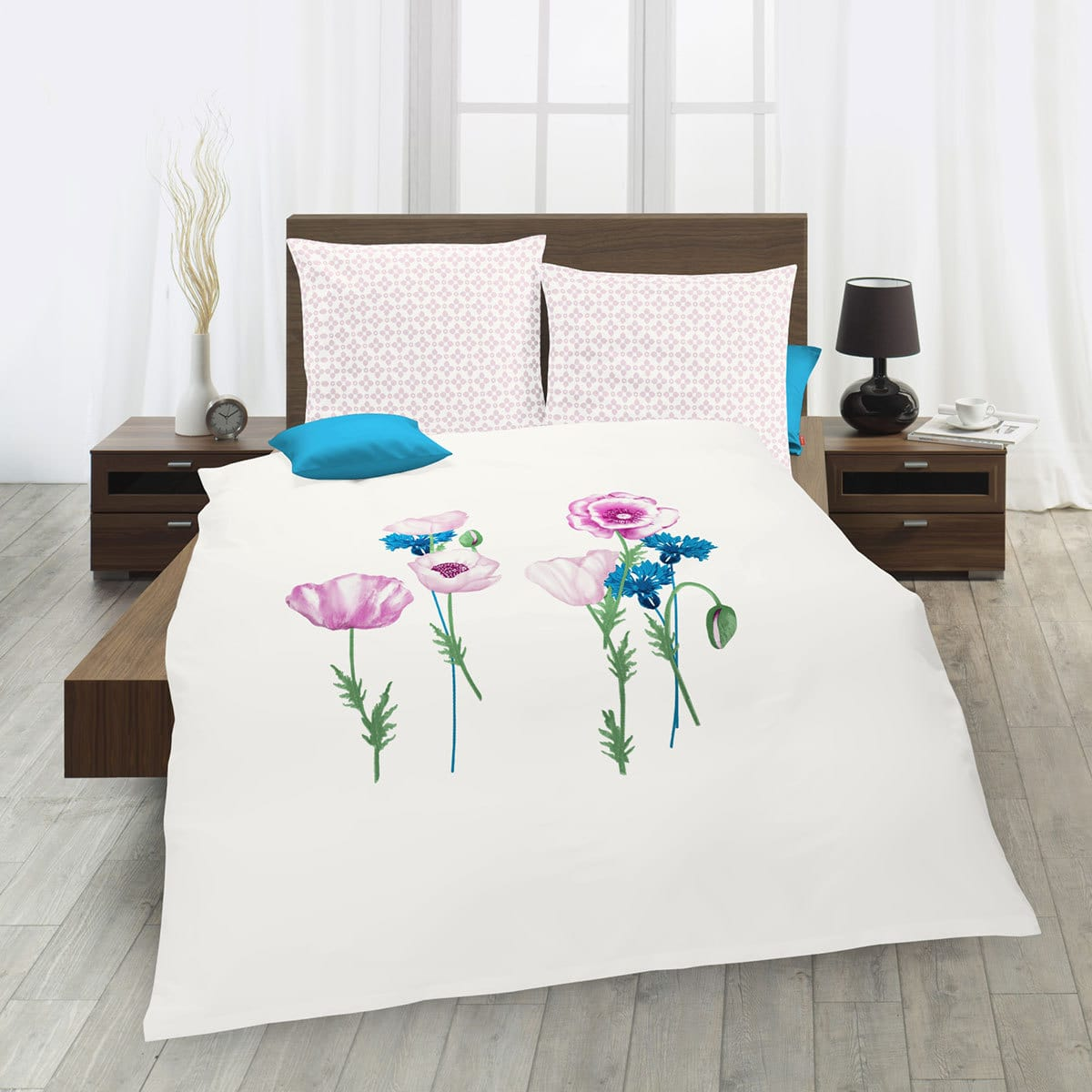 traumschlaf mako satin bettw sche mohnblume g nstig online kaufen bei bettwaren shop. Black Bedroom Furniture Sets. Home Design Ideas