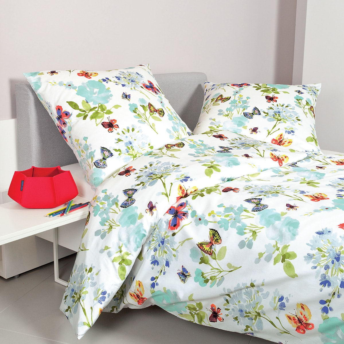 Janine Mako-Satin Bettwäsche moments 98035 multicolor