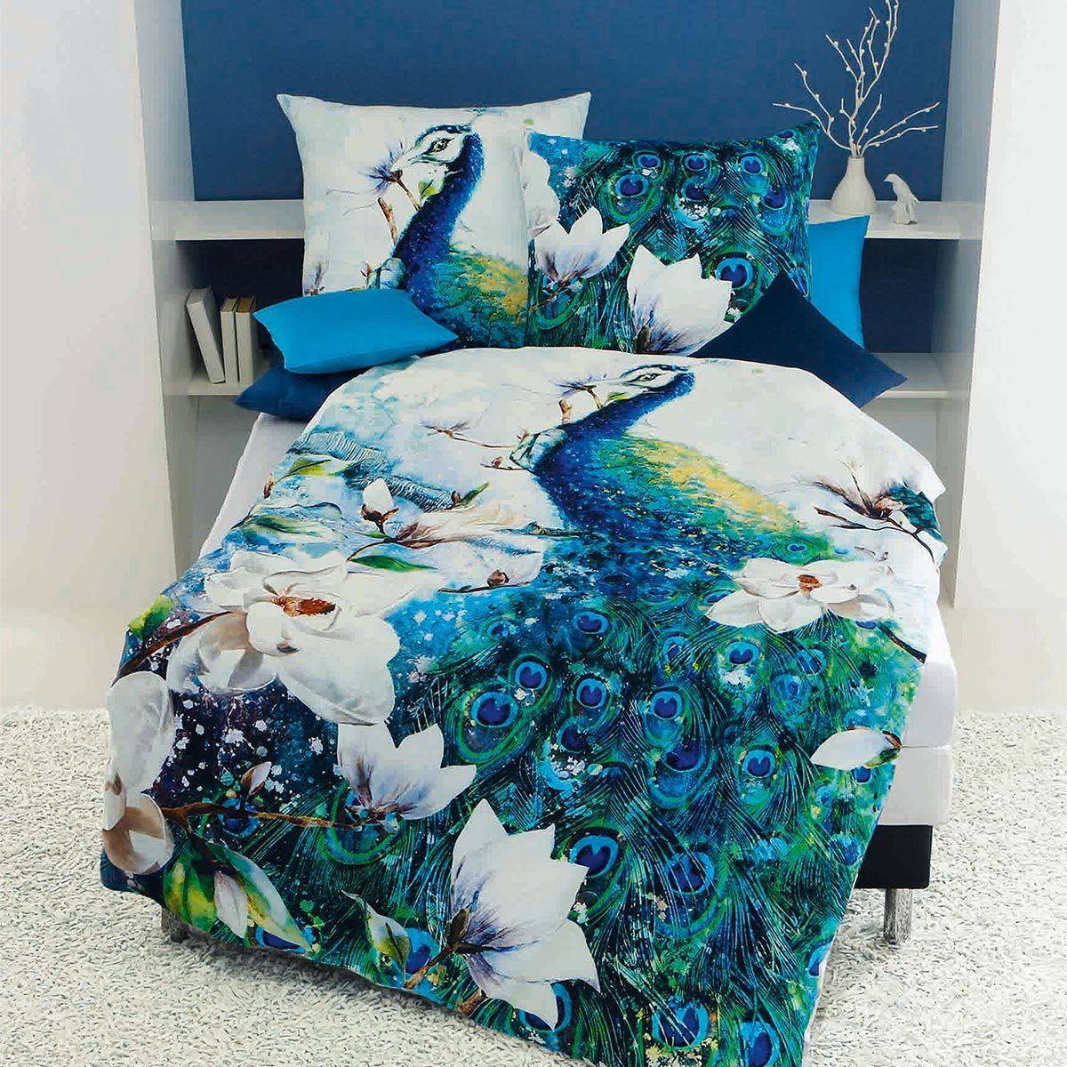 Kaeppel Mako Satin Bettwäsche Peacock Smaragd Günstig Online Kaufen