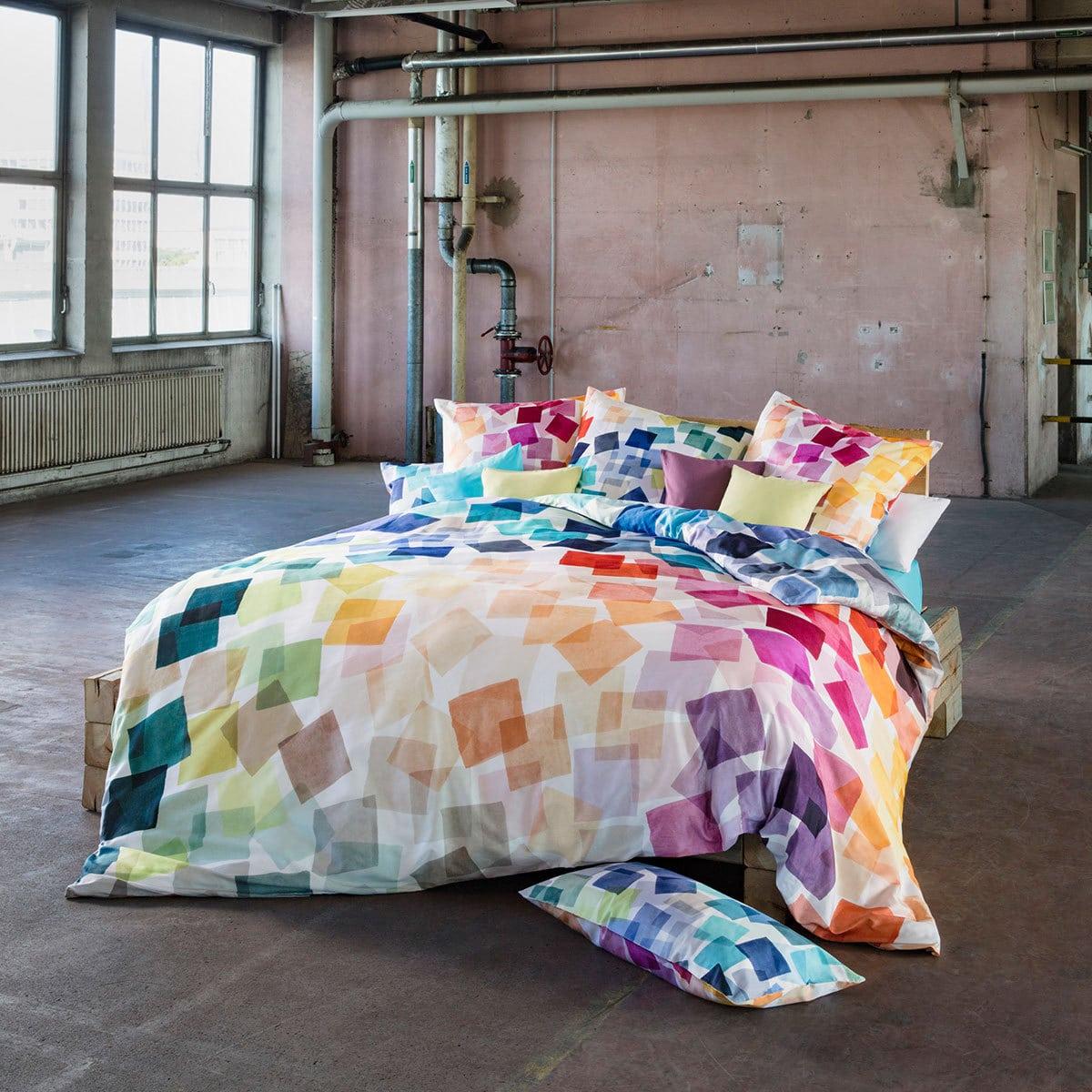 Estella Mako Satin Bettwäsche Puzzle Multicolor