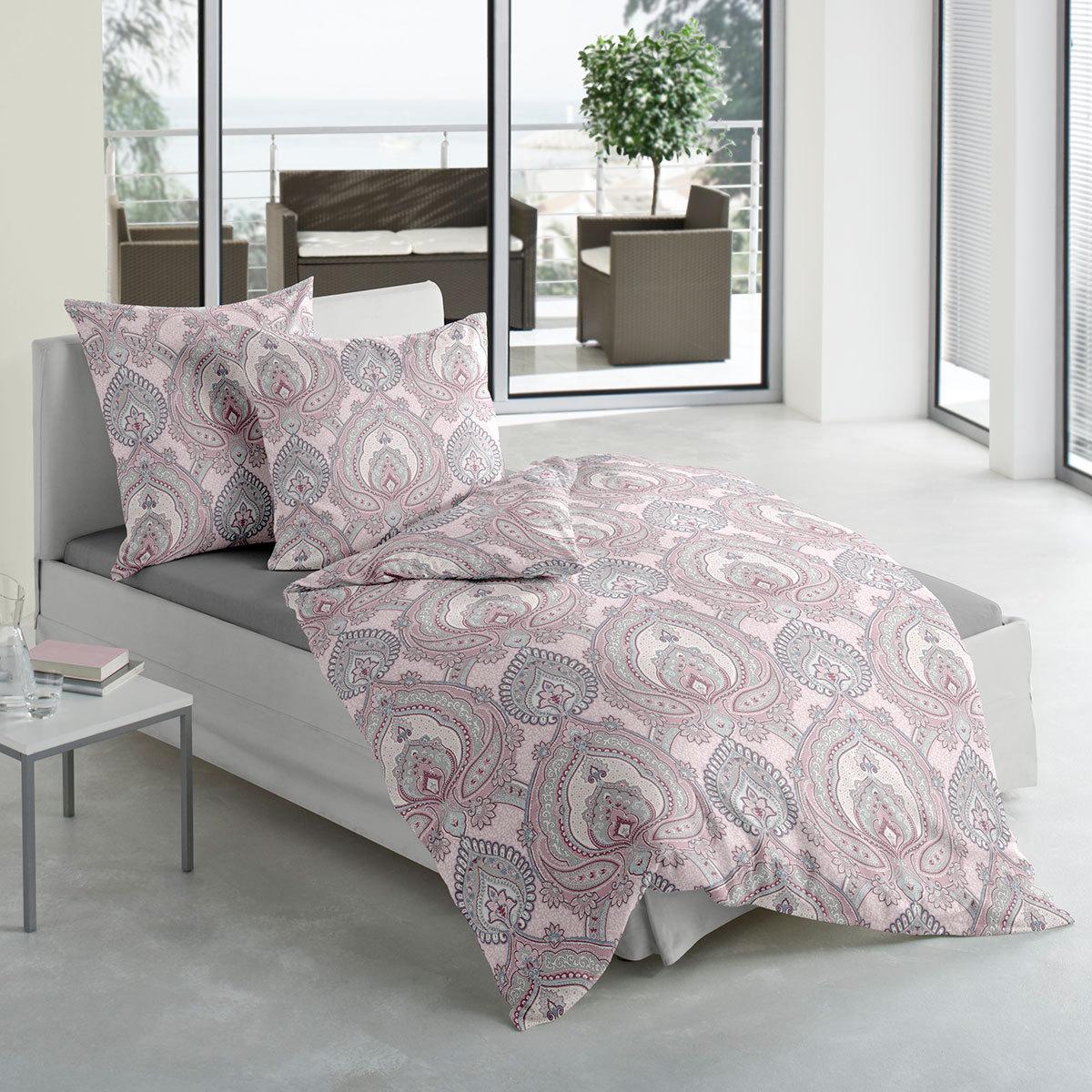 traumschlaf mako satin bettw sche royal ornament g nstig online kaufen bei bettwaren shop. Black Bedroom Furniture Sets. Home Design Ideas
