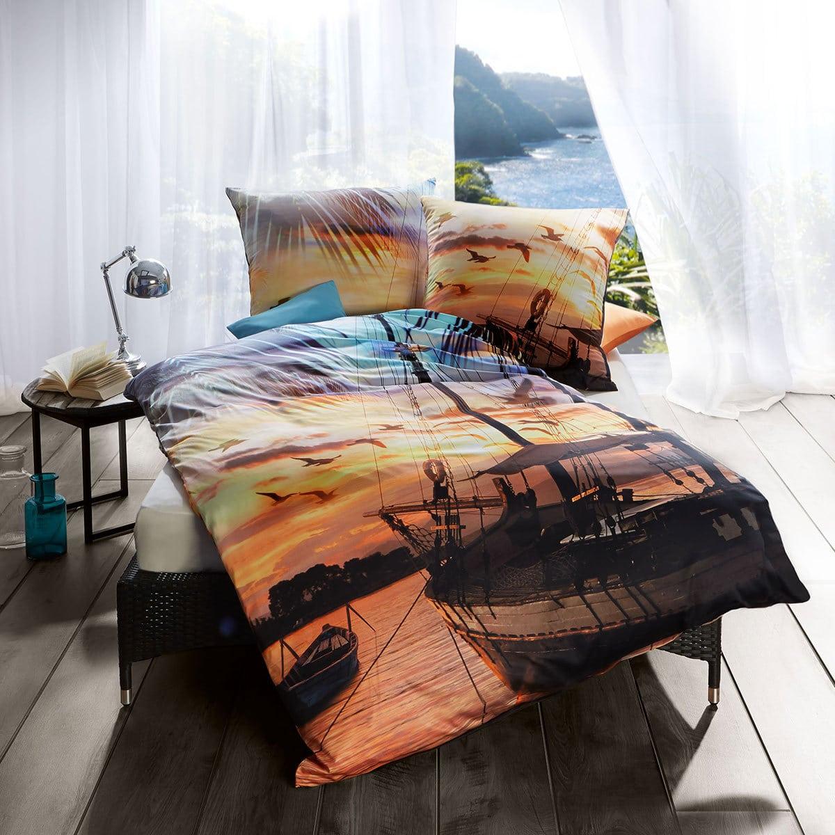 kaeppel mako satin bettw sche sail away g nstig online. Black Bedroom Furniture Sets. Home Design Ideas
