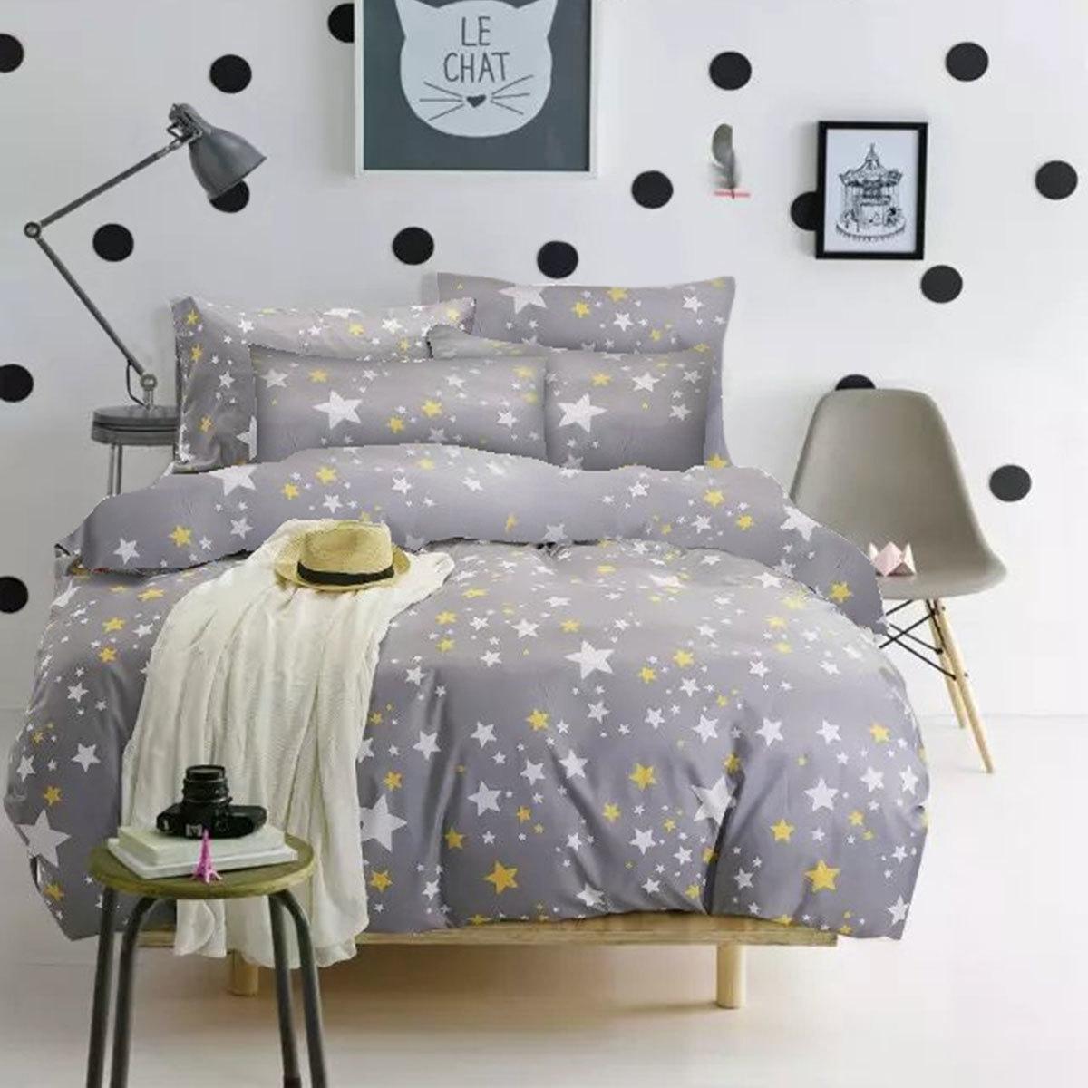Bettwarenshop Mako Satin Bettwäsche Sternchen Günstig Online Kaufen
