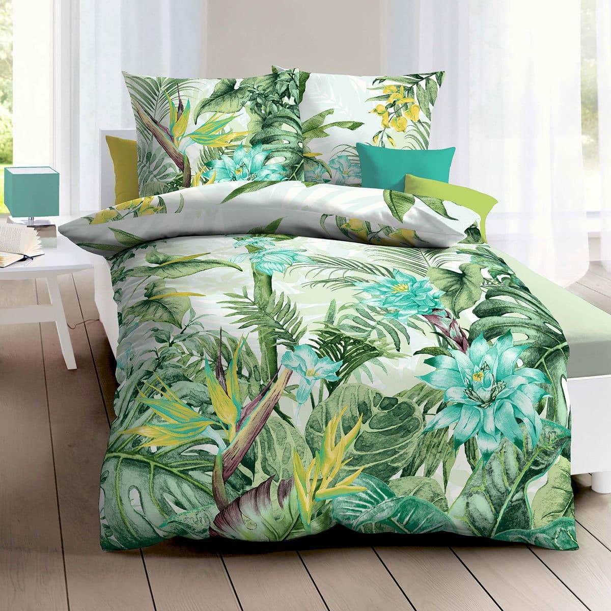 Kaeppel Mako Satin Bettwäsche Tahiti Jade Günstig Online Kaufen Bei