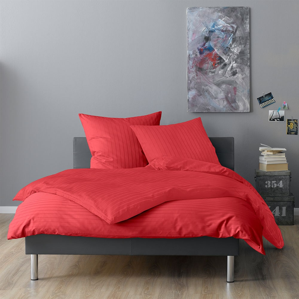 lorena mako satin bettw sche verona rot g nstig online kaufen bei bettwaren shop. Black Bedroom Furniture Sets. Home Design Ideas
