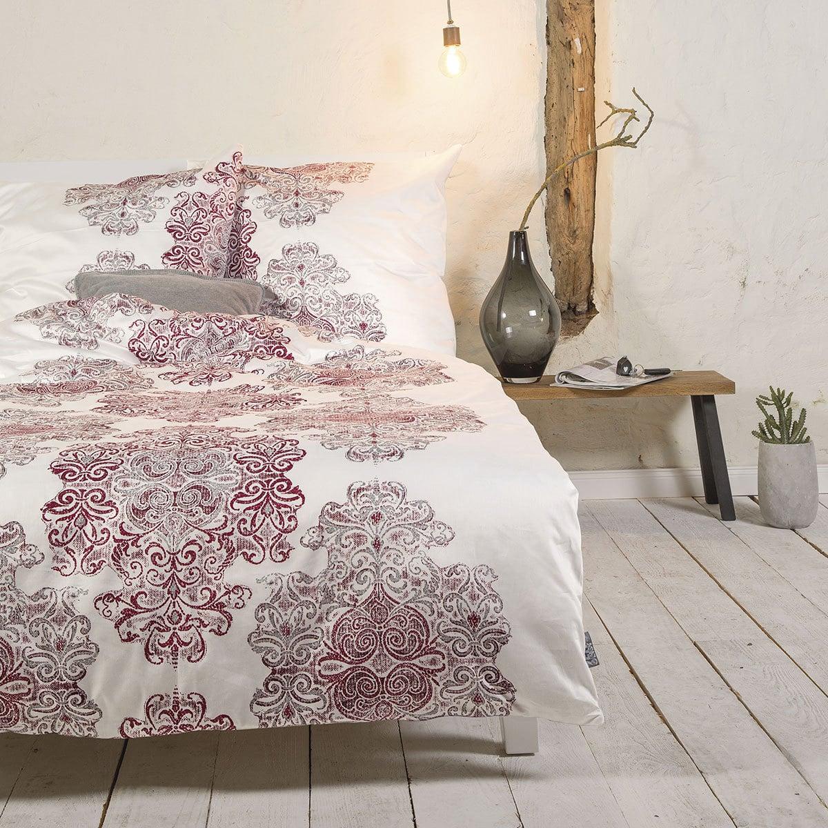 ibena mako satin bettw sche zeitgeist ornamente g nstig. Black Bedroom Furniture Sets. Home Design Ideas