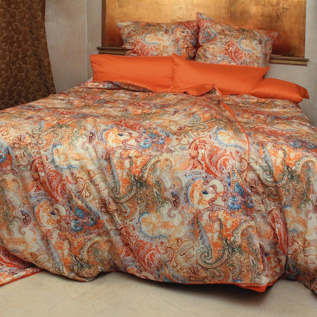 momm mako satin wendebettw sche kochi bunt coralle g nstig online kaufen bei bettwaren shop. Black Bedroom Furniture Sets. Home Design Ideas