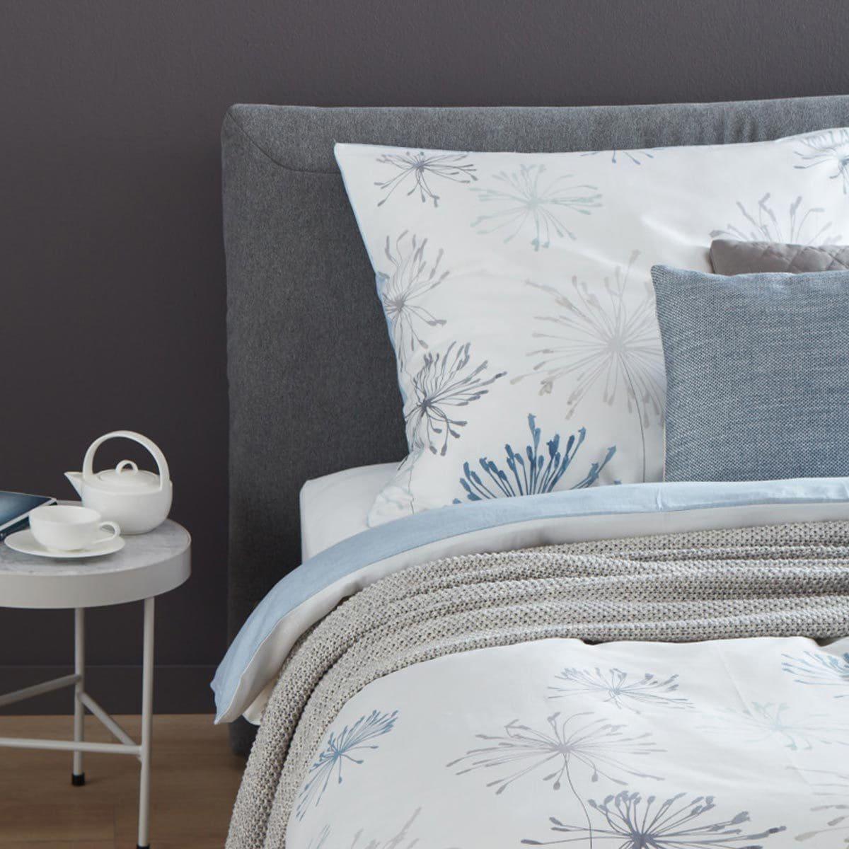 sch ner wohnen mako satin wendebettw sche marge b mint blau g nstig online kaufen bei bettwaren shop. Black Bedroom Furniture Sets. Home Design Ideas