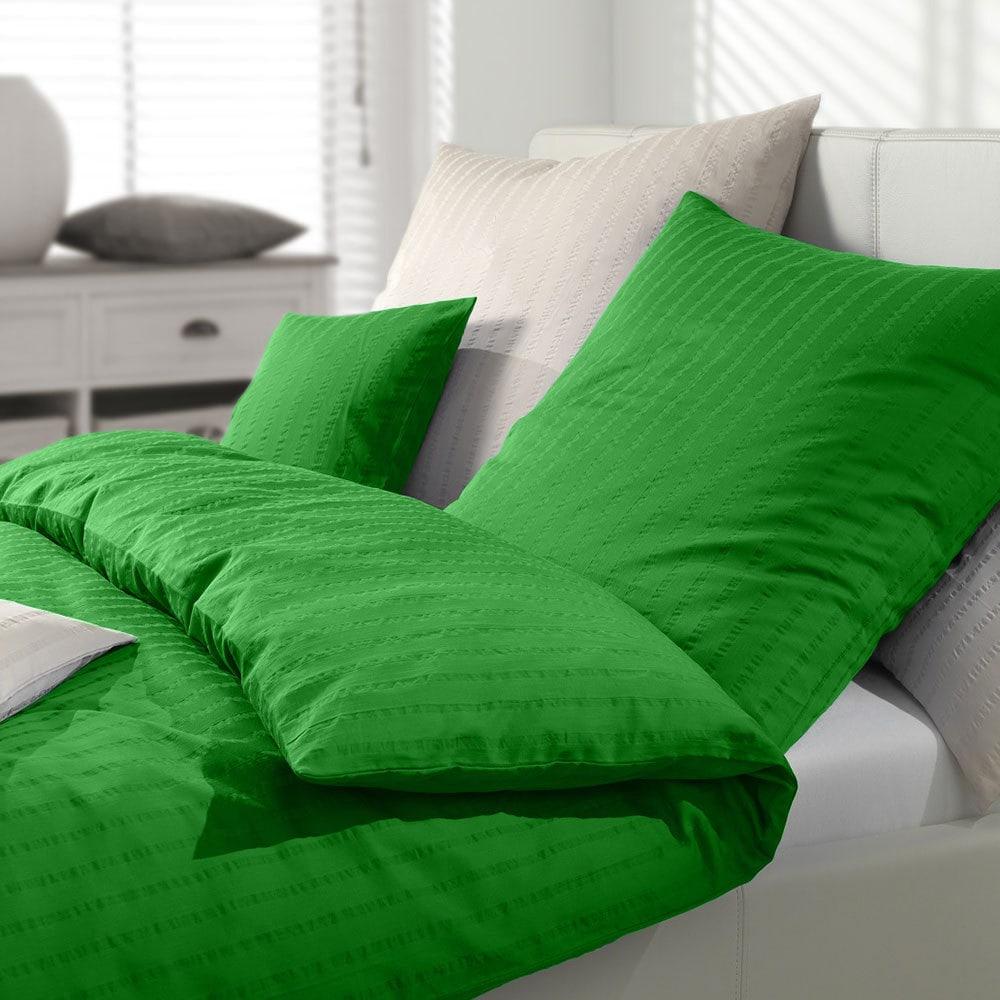 Bettwäsche Apfelgrün bettwäsche seersucker grün preisvergleich • die besten angebote