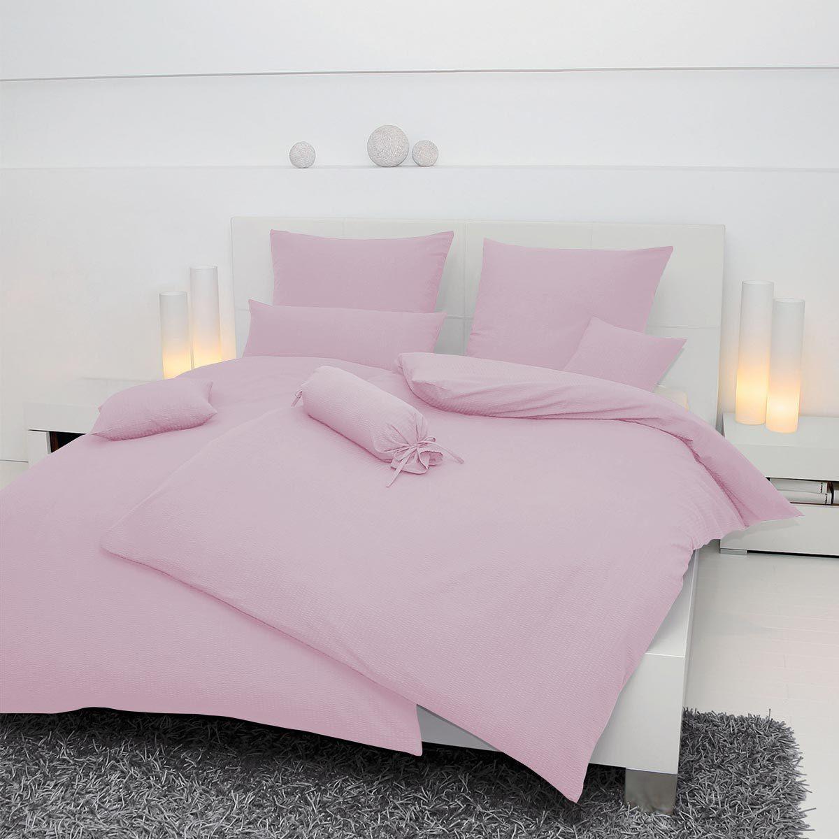 janine mako soft seersucker bettw sche piano zartrosa. Black Bedroom Furniture Sets. Home Design Ideas