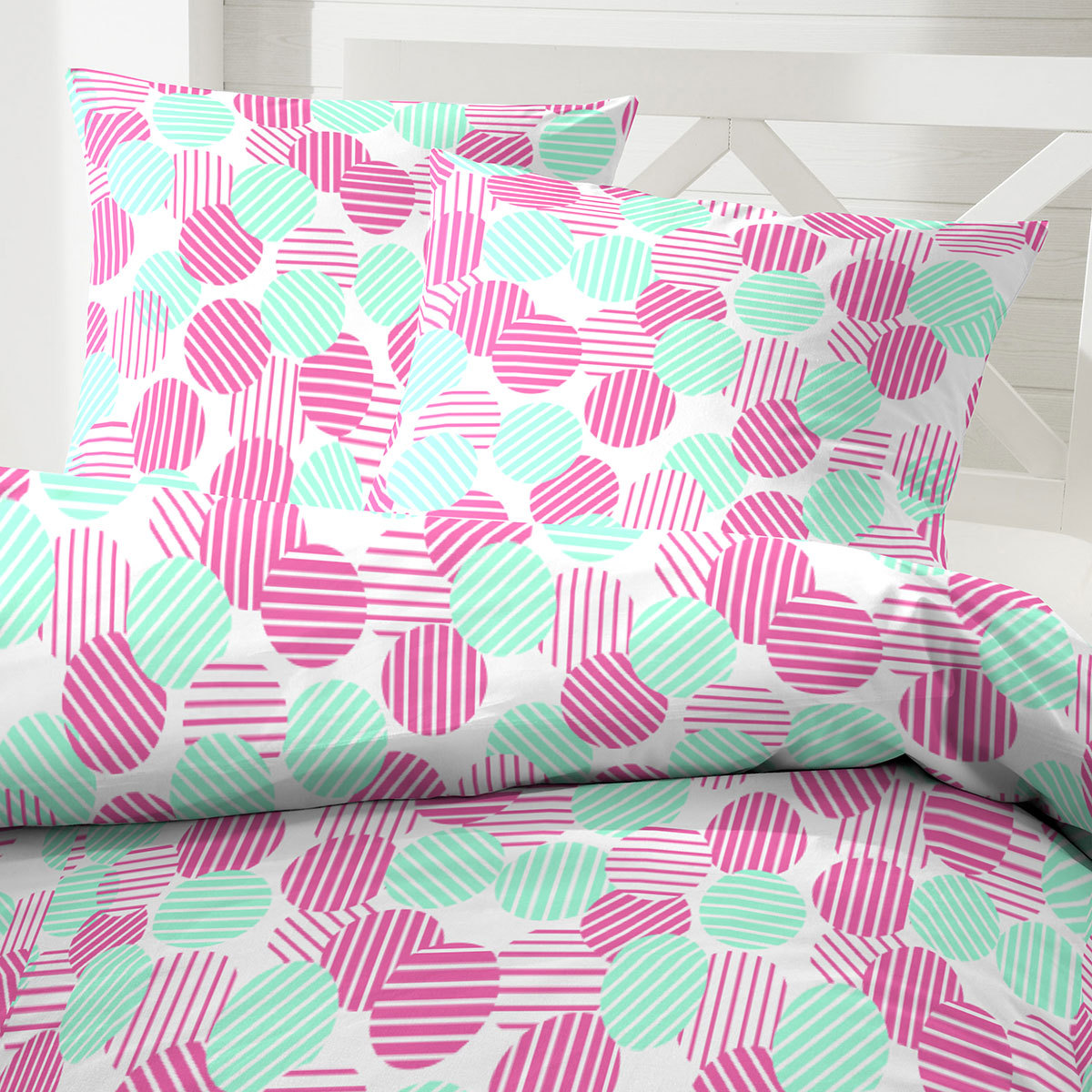 hahn mikrofaser seersucker bettw sche punkte pink g nstig online kaufen bei bettwaren shop. Black Bedroom Furniture Sets. Home Design Ideas