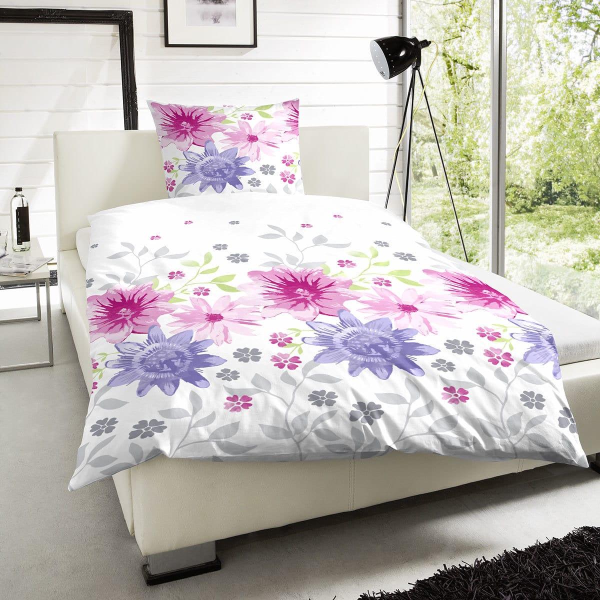 Hahn Perkal Bettwäsche Blumenwiese Pink Günstig Online Kaufen Bei