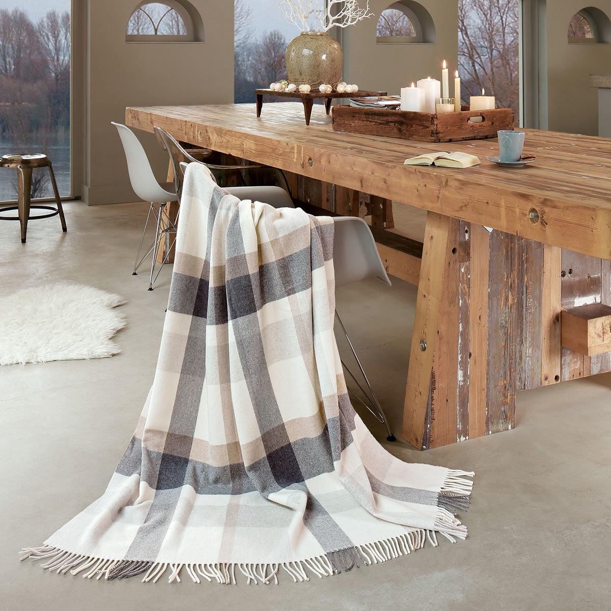 Biederlack Plaid Check Wool