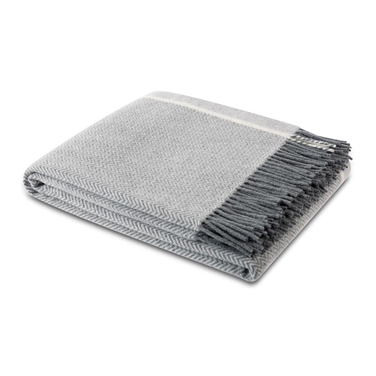 Biederlack Plaid Herringbone Wool