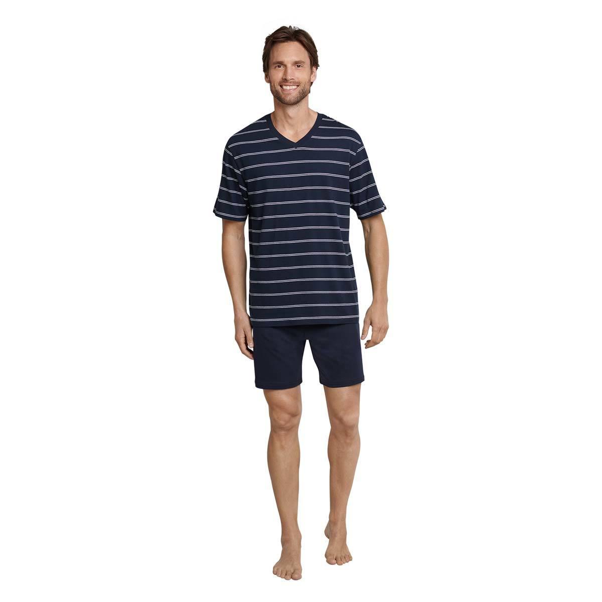 Schiesser Herren Pyjama Kurz Zweiteiliger Schlafanzug