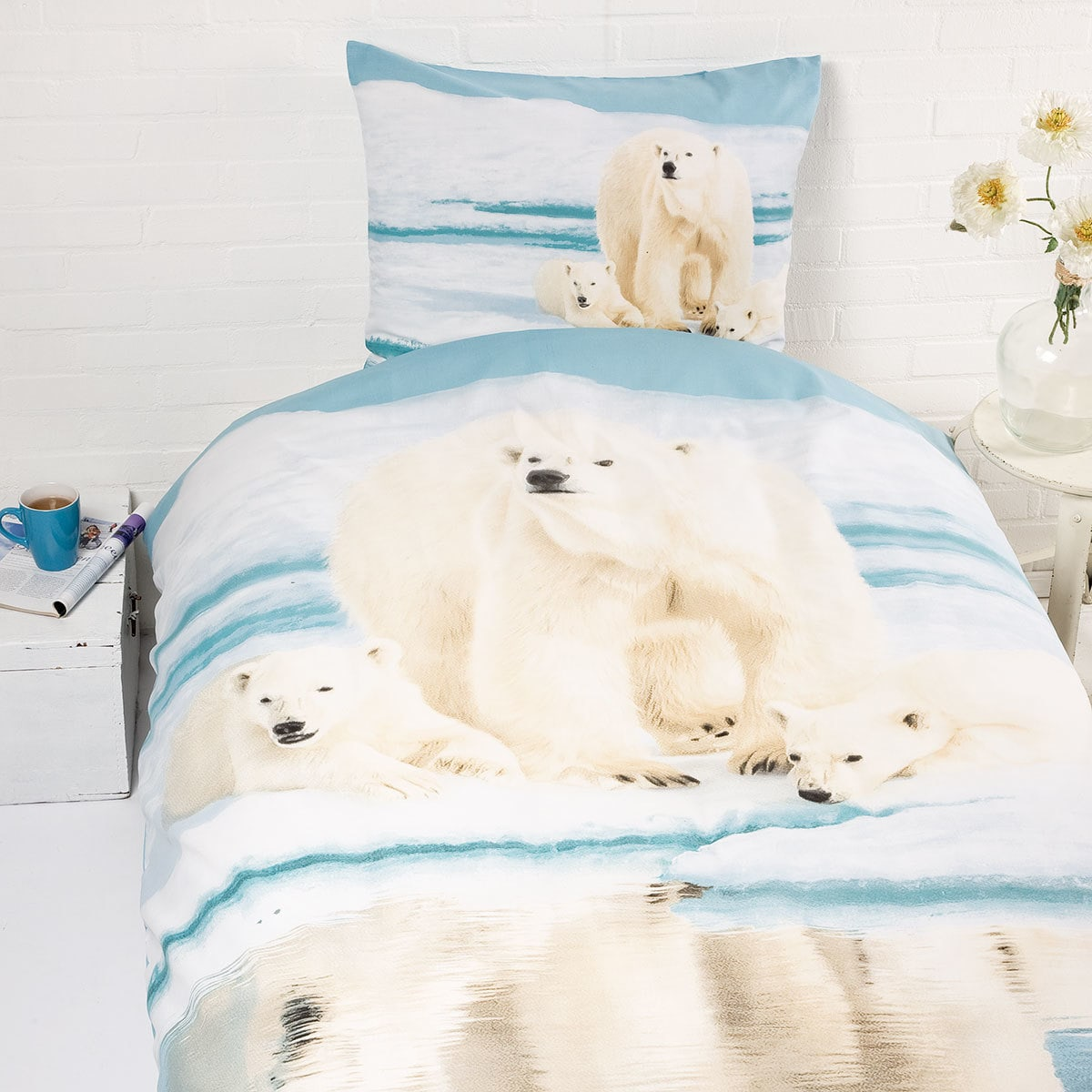 Traumschlaf Renforcé Bettwäsche Eisbär