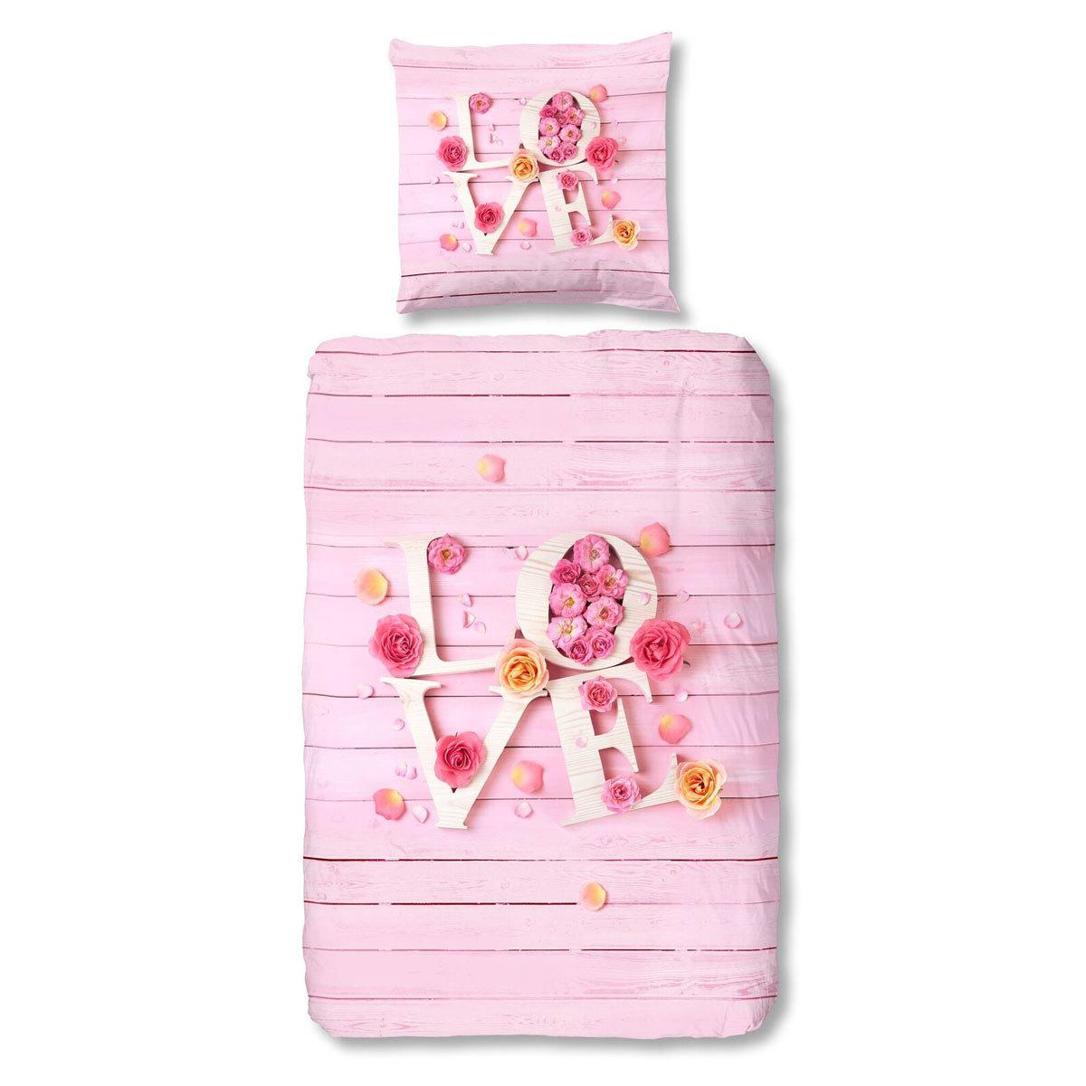 Living Dreams Renforce Bettwäsche Love pink