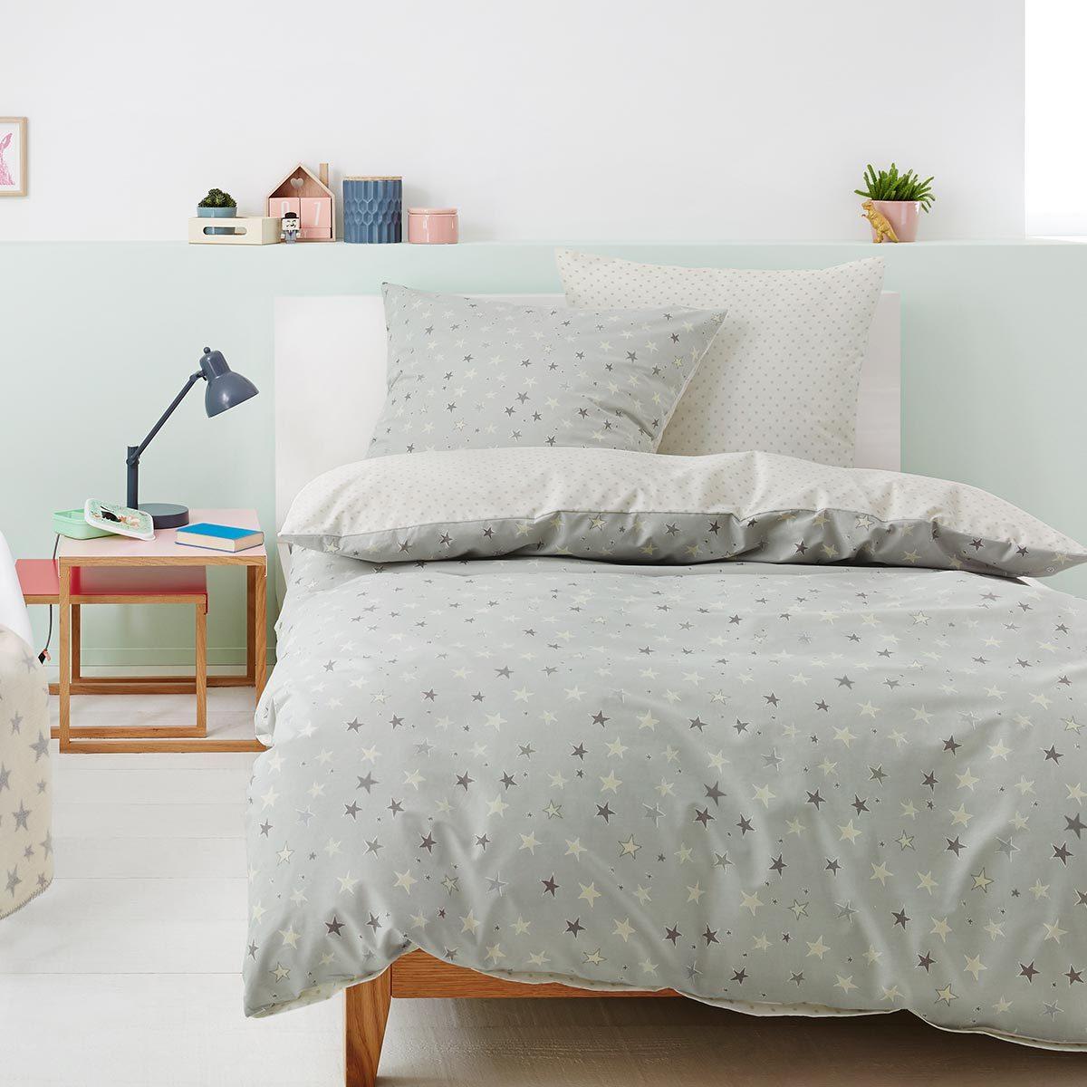 s oliver renforce bettw sche sterne silber wei g nstig. Black Bedroom Furniture Sets. Home Design Ideas