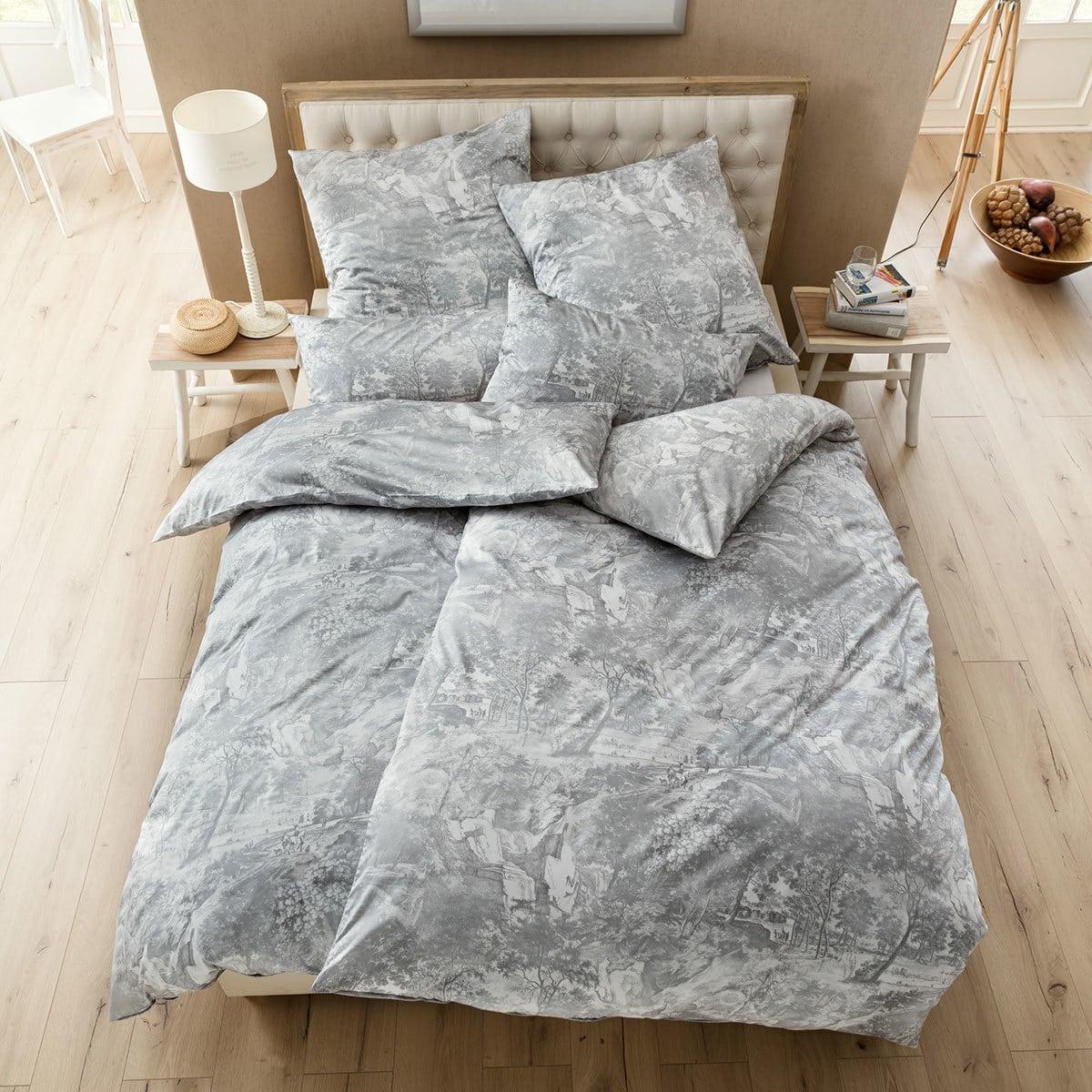 estella schweizer premium satin bettw sche marie platin. Black Bedroom Furniture Sets. Home Design Ideas