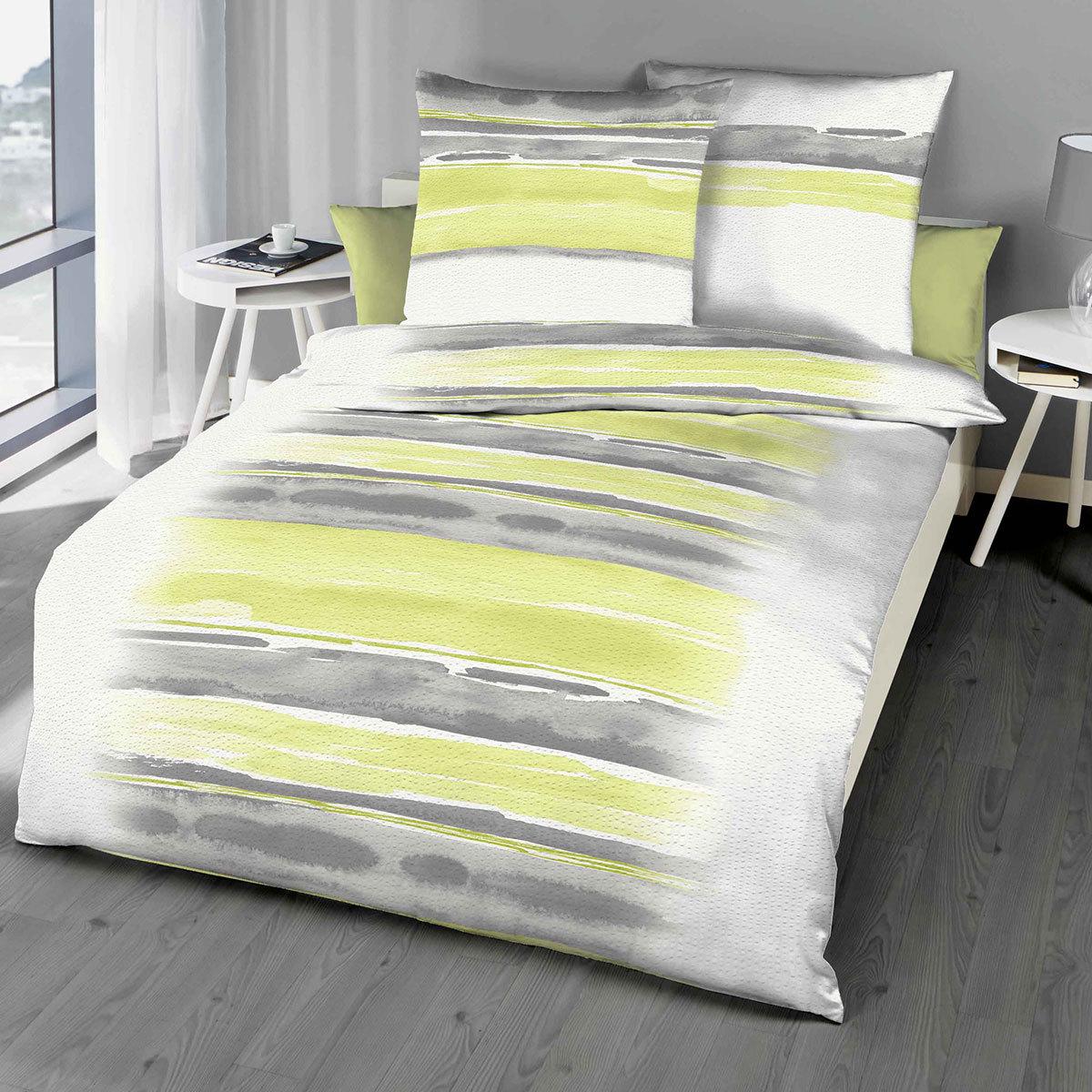kaeppel seersucker bettw sche blend gr n g nstig online kaufen bei bettwaren shop. Black Bedroom Furniture Sets. Home Design Ideas