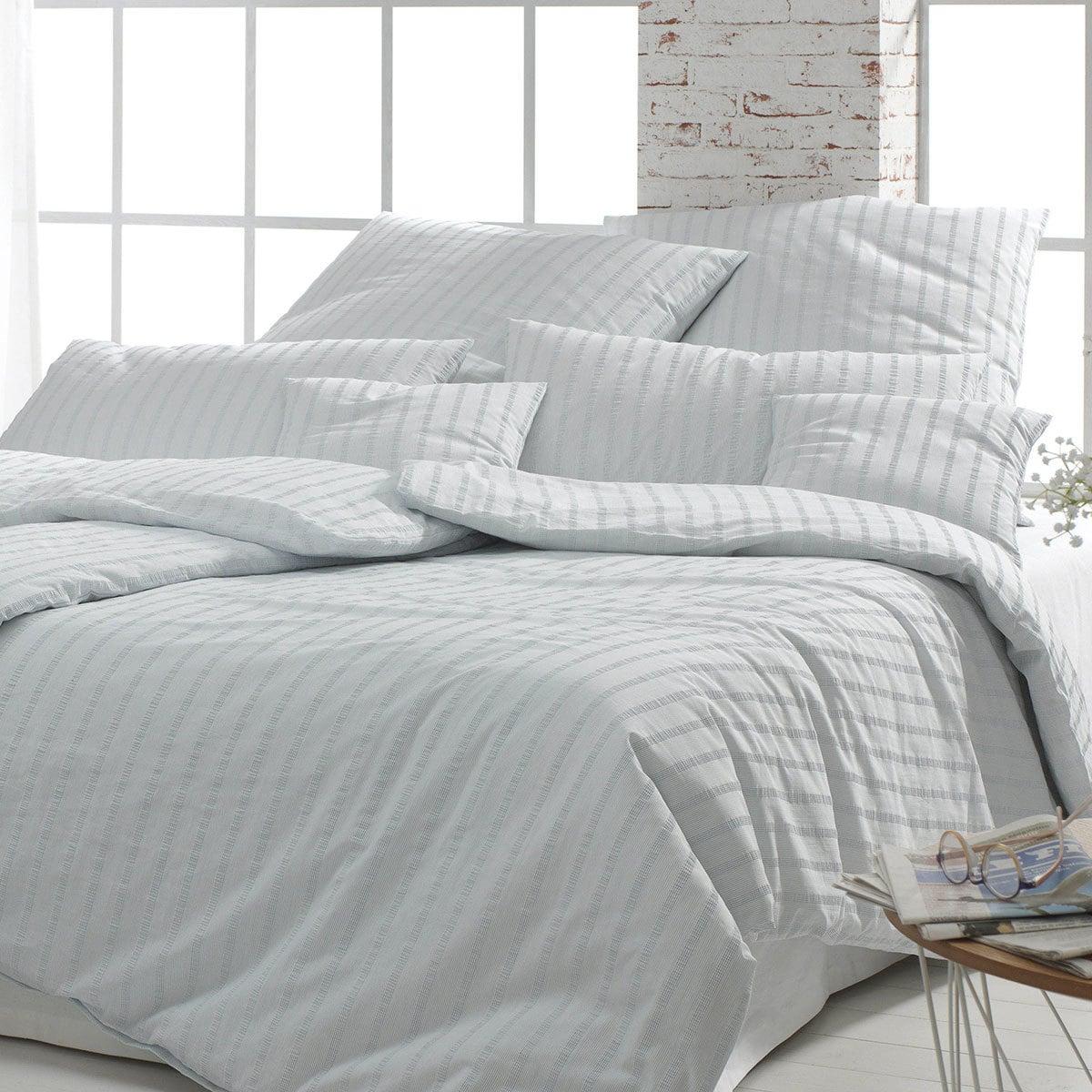 Elegante Seersucker Bettwäsche Campden Denim Günstig Online Kaufen