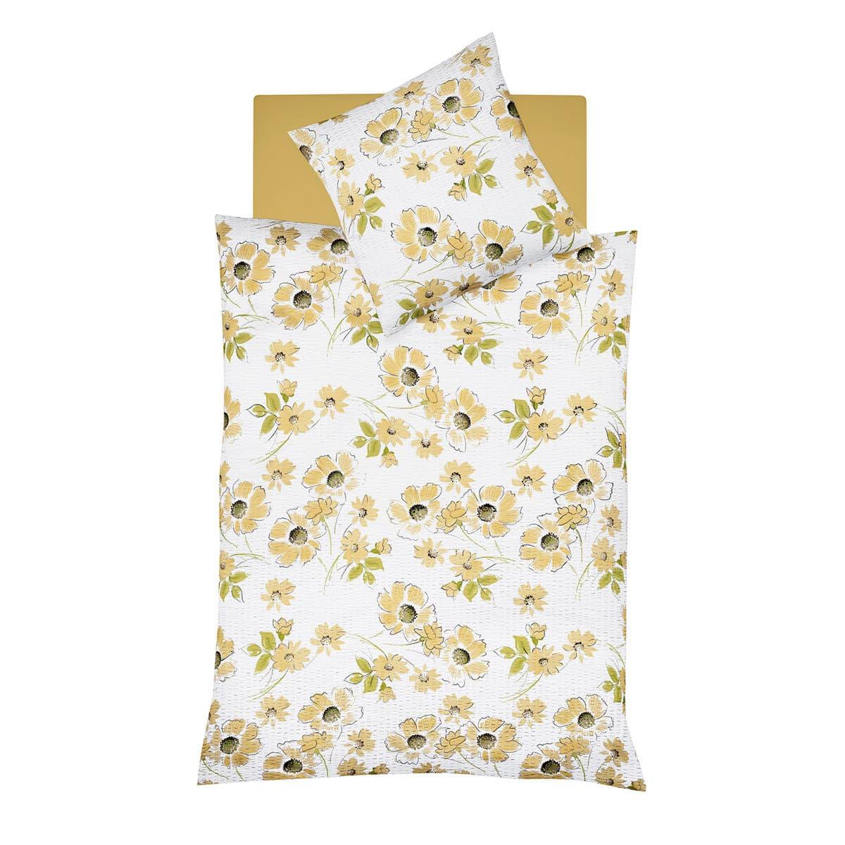 Fleuresse Seersucker Bettwäsche Donna 153234 gelb