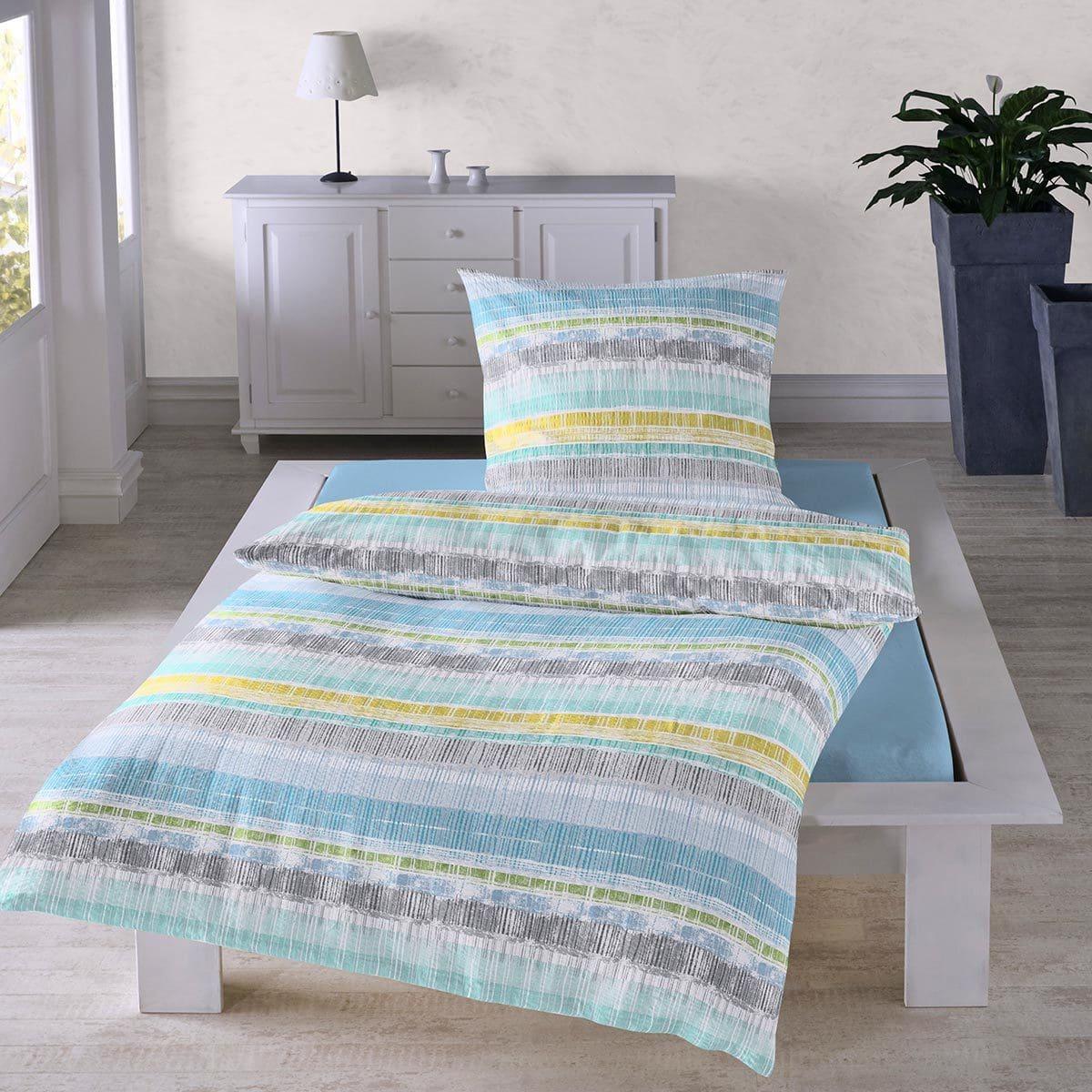 Traumschlaf Seersucker Bettwäsche Modern Stripes