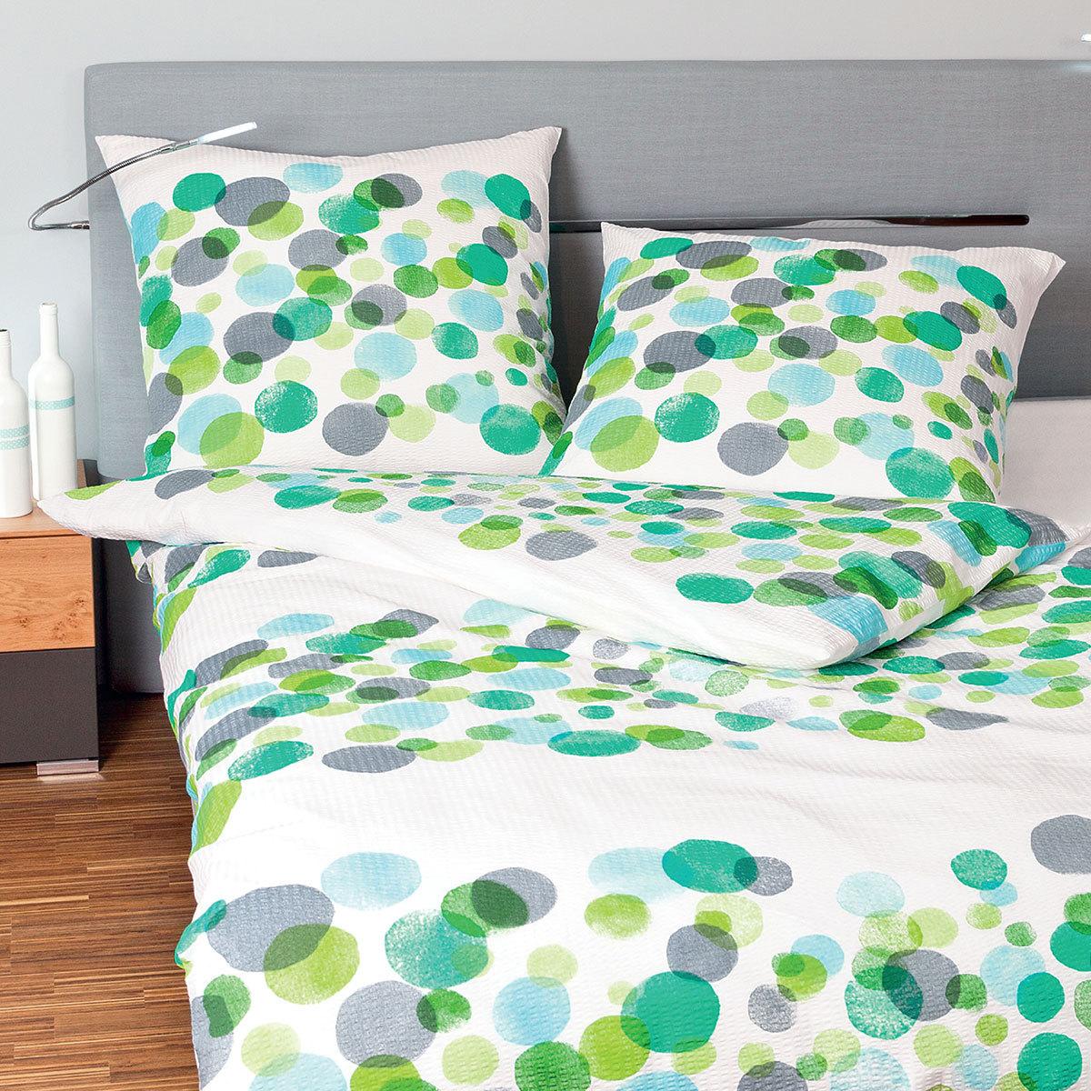 bettw sche seersucker gr n preisvergleich die besten angebote online kaufen. Black Bedroom Furniture Sets. Home Design Ideas