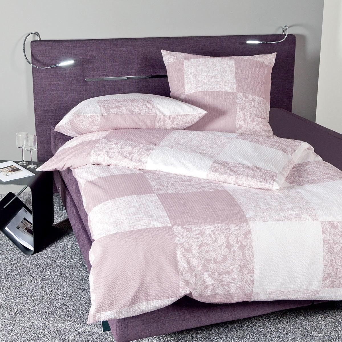 janine seersucker bettw sche tango 20037 01 lotusbl te g nstig online kaufen bei bettwaren shop. Black Bedroom Furniture Sets. Home Design Ideas
