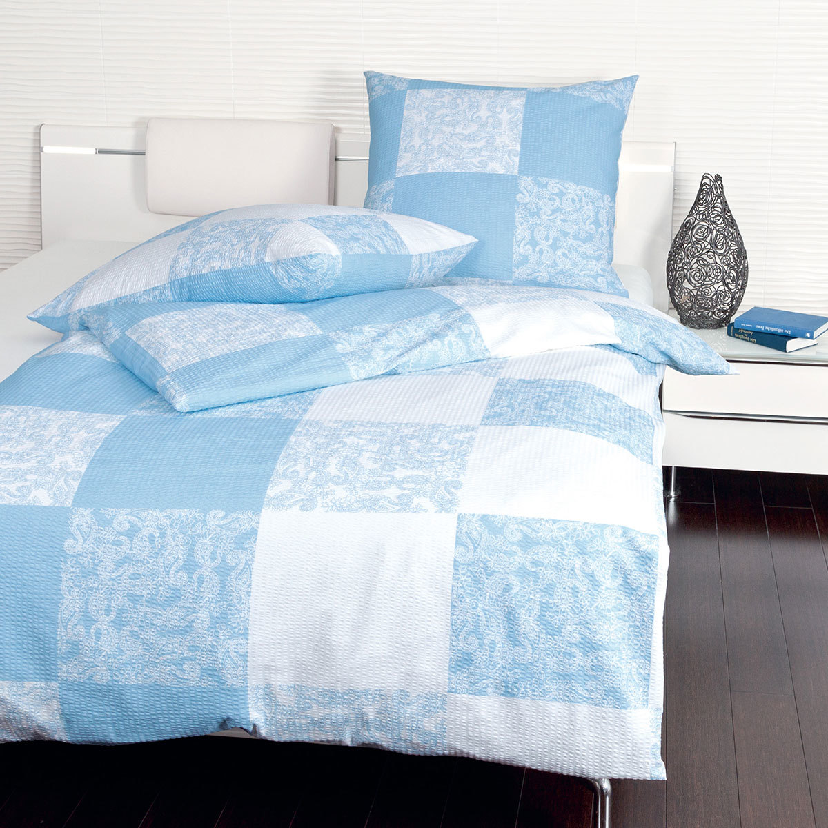 janine seersucker bettw sche tango 20037 02 blau g nstig online kaufen bei bettwaren shop. Black Bedroom Furniture Sets. Home Design Ideas