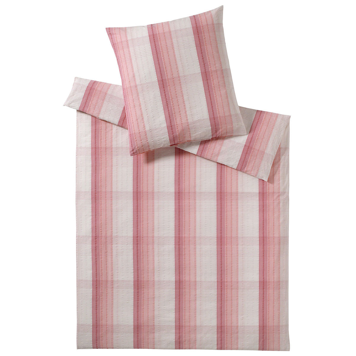 elegante seersucker bettw sche wembley rouge g nstig online kaufen bei bettwaren shop. Black Bedroom Furniture Sets. Home Design Ideas