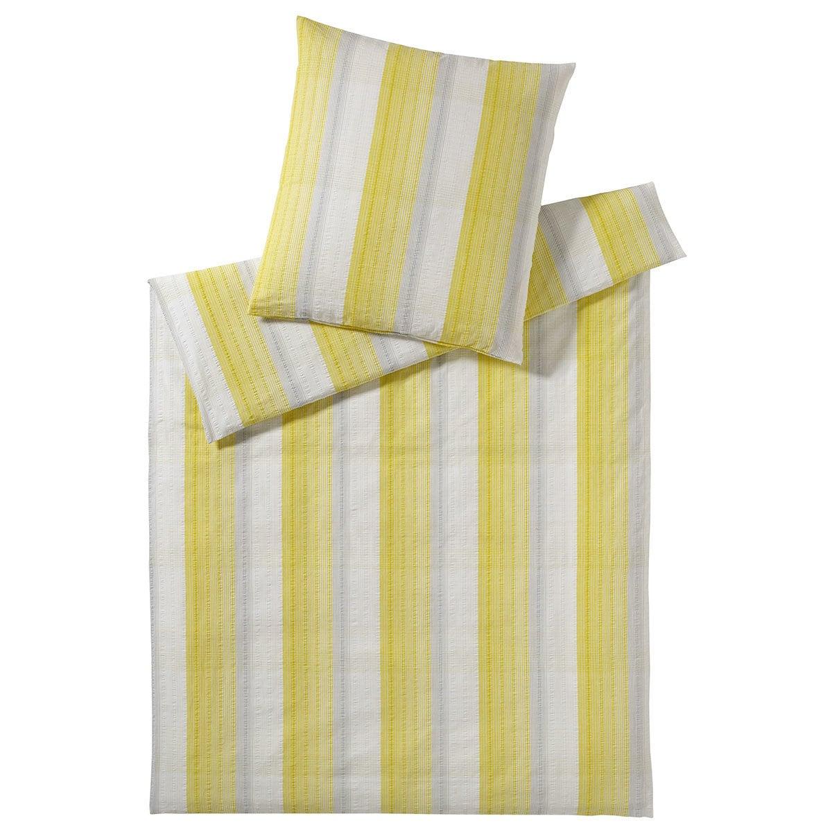 elegante seersucker bettw sche wembley yellow g nstig online kaufen bei bettwaren shop. Black Bedroom Furniture Sets. Home Design Ideas
