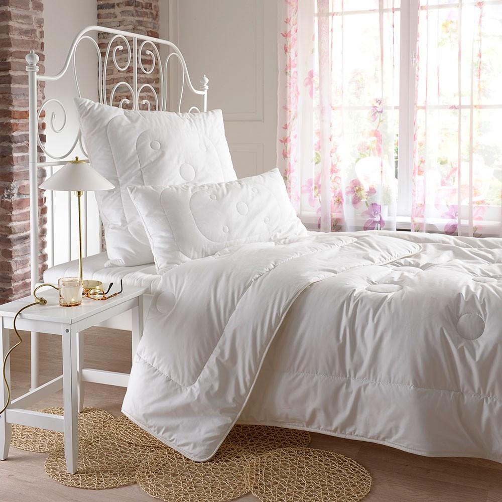 bettwarenshop set sommer bettdecke und kopfkissen. Black Bedroom Furniture Sets. Home Design Ideas